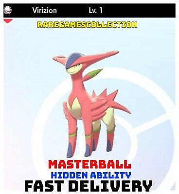 Pokemon Sword Shield ✨ SHINY ✨ 1️⃣ VIRIZION 6IV FAST DELIVERY