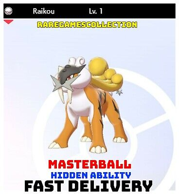 Pokemon Sword Shield ✨ SHINY ✨ 1️⃣ RAIKOU 6IV FAST DELIVERY
