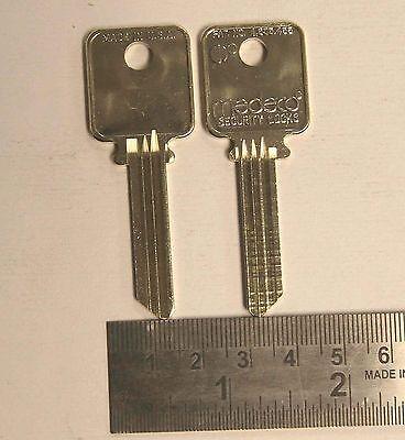 2 New Medeco Lock Uncut Blank Keys For 1 Price