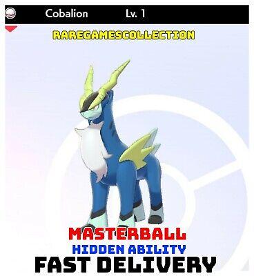Pokemon Sword Shield ✨ SHINY ✨ 1️⃣ COBALION 6IV FAST DELIVERY