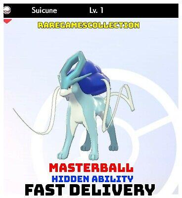 Pokemon Sword Shield ✨ SHINY ✨ 1️⃣ SUICUNE 6IV FAST DELIVERY
