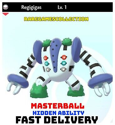 Pokemon Sword Shield ✨ SHINY ✨ 1️⃣ REGIGIGAS 6IV FAST DELIVERY