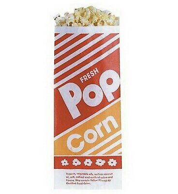 1000 Popcorn Bags Small Serving 1.0 Oz 1000 Ct 3.5 X 2.25 X 8 Gold Medal