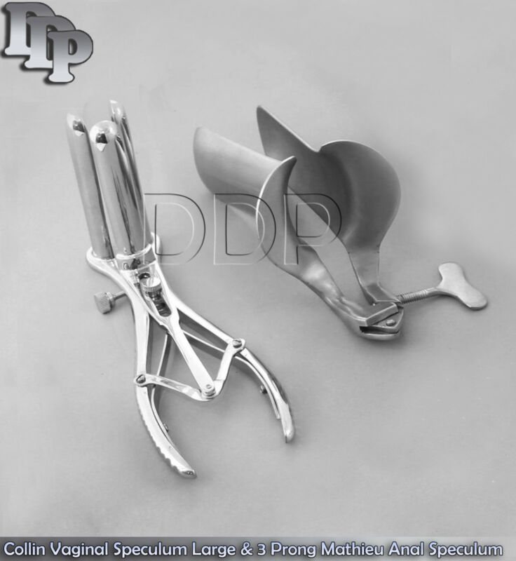 Collin Vaginal Speculum Large & 3 Prong Mathieu Anal Speculum Gynecology Instr