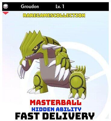 Pokemon Sword Shield ✨ SHINY ✨ 1️⃣ GROUDON 6IV FAST DELIVERY