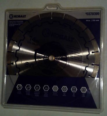 Kobalt 14 Wet Dry Segmented Concrete Brick Block Pavers Diamond Saw Blade-s2