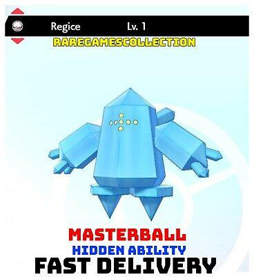 Pokemon Sword Shield ✨ SHINY ✨ 1️⃣ REGICE 6IV FAST DELIVERY