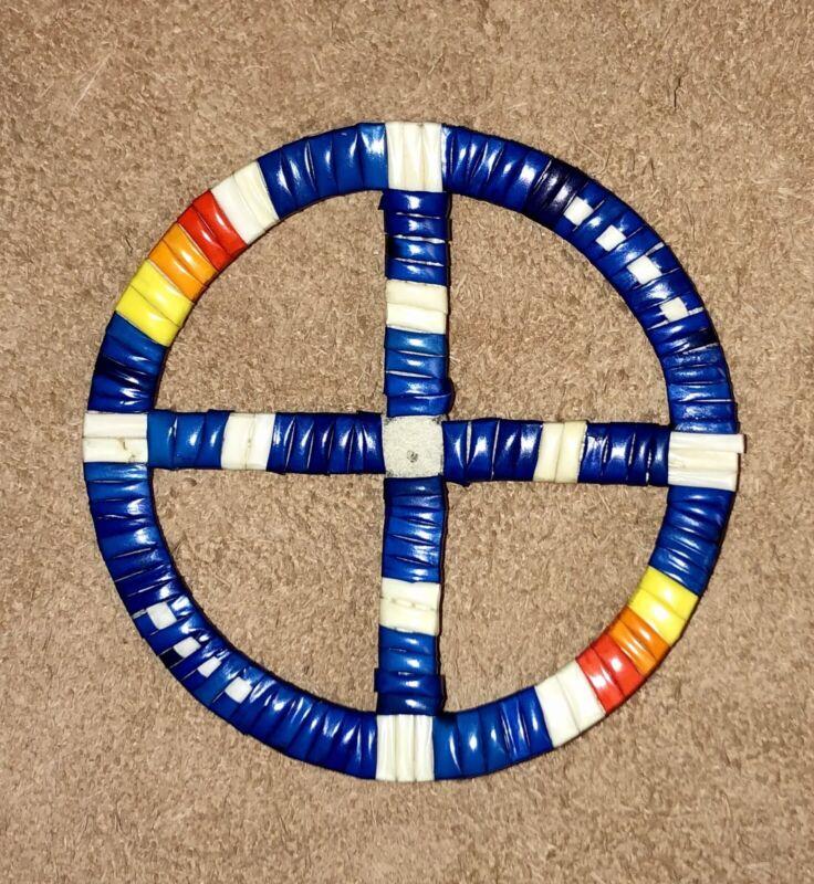 Native American Lakota Sioux Quilled Medicine Wheel