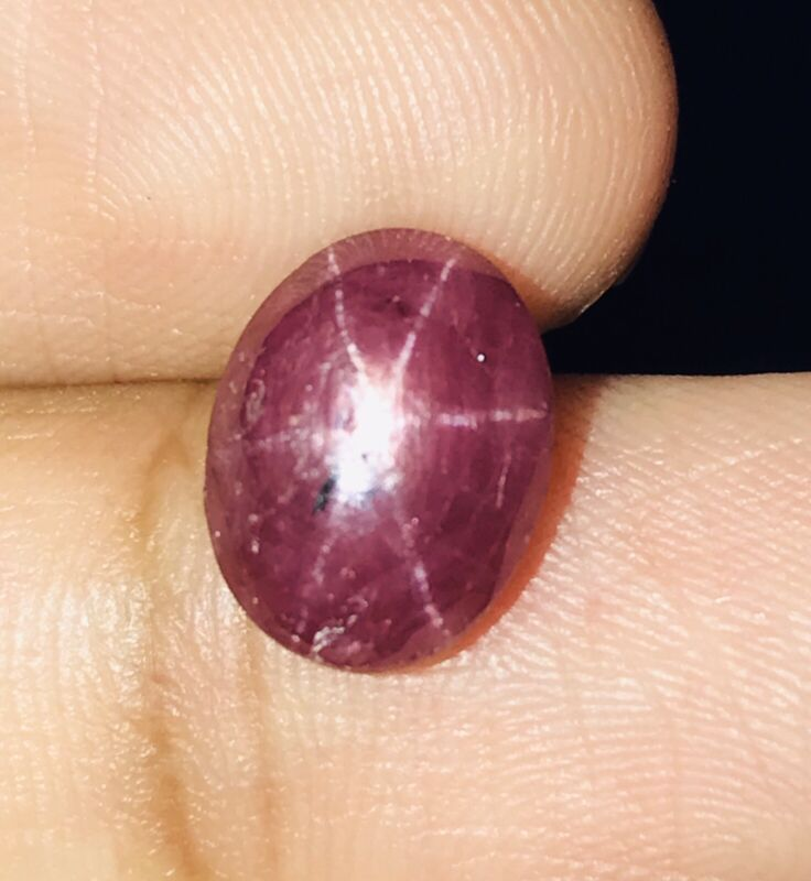 3.46cts Good Color Natural Unheat 6 Rays Star Ruby Loose Gemstone