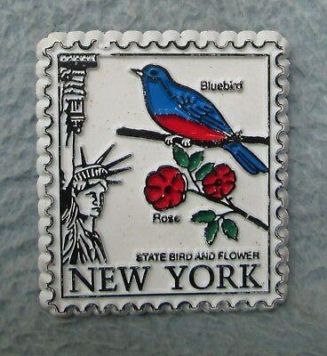 New York State Bird And Flower Rubber Magnet, Souvenir, Travel, Refrigerator