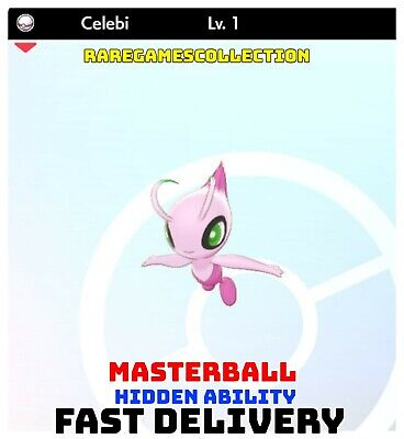 Pokemon Sword Shield ✨ SHINY ✨ 1️⃣ CELEBI 6IV FAST DELIVERY