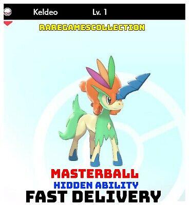 Pokemon Sword Shield ✨ SHINY ✨ 1️⃣ KELDEO 6IV FAST DELIVERY