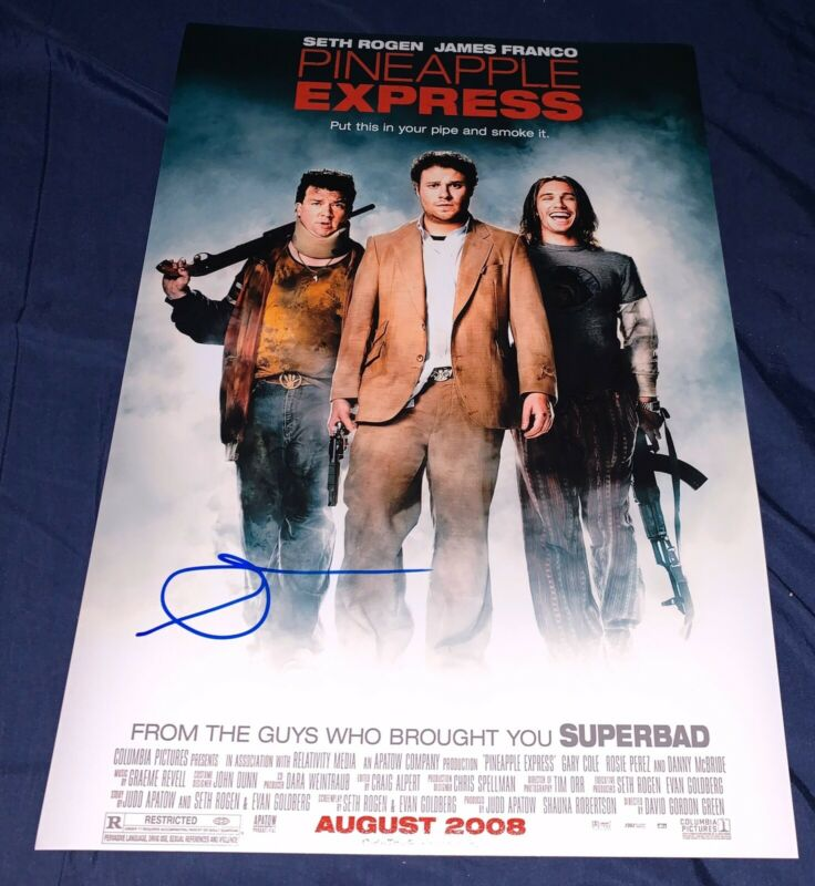 SETH ROGEN SIGNED PINEAPPLE EXPRESS 12X18 MOVIE POSTER