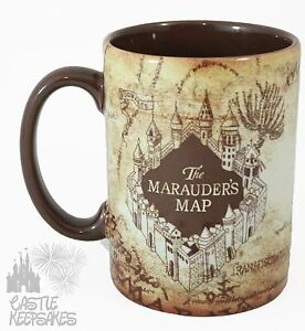 Universal-Wizarding-World-Harry-Potter-Marauder-039-s-Map-Coffee-Mug-Exclusive-NEW
