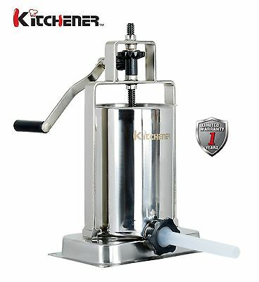 Kitchener Stainless Steel Vertical Sausage Stufferfillermaker 10-lbs Capacity