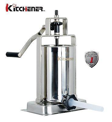 Kitchener Stainless Steel Vertical Sausage Stufferfillermaker 10-lbs Capacity
