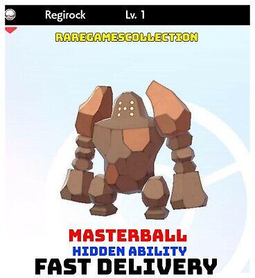 Pokemon Sword Shield ✨ SHINY ✨ 1️⃣ REGIROCK 6IV FAST DELIVERY