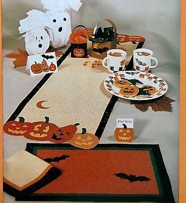 Little Brown House Patterns NO SEW HOSTESS HALLOWEEN Placemat Table Runner QUICK](Halloween Table Runner Quilt Patterns)