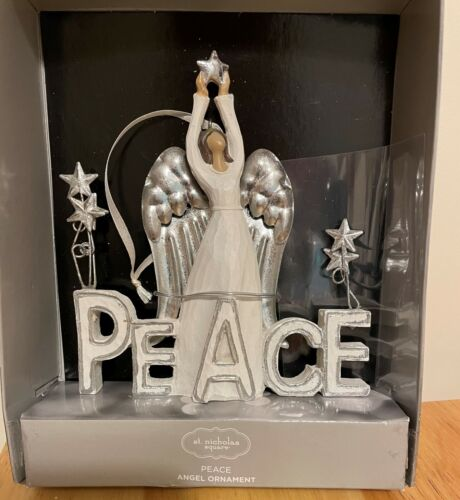 St Nicholas Square Peace and Love Angel Ornament