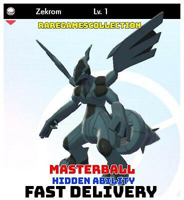 Pokemon Sword Shield ✨ SHINY ✨ 1️⃣ ZEKROM 6IV FAST DELIVERY