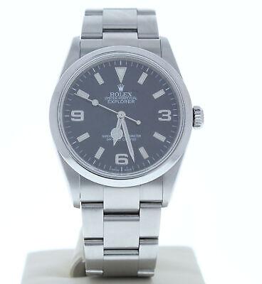 Rolex 114270 Oyster Perpetual Explorer Steel Watch Black Face 2007 Model