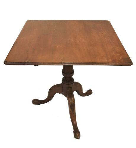 18th Century American Southern Maple Square Tilt Top Tea Table (Carolinas)