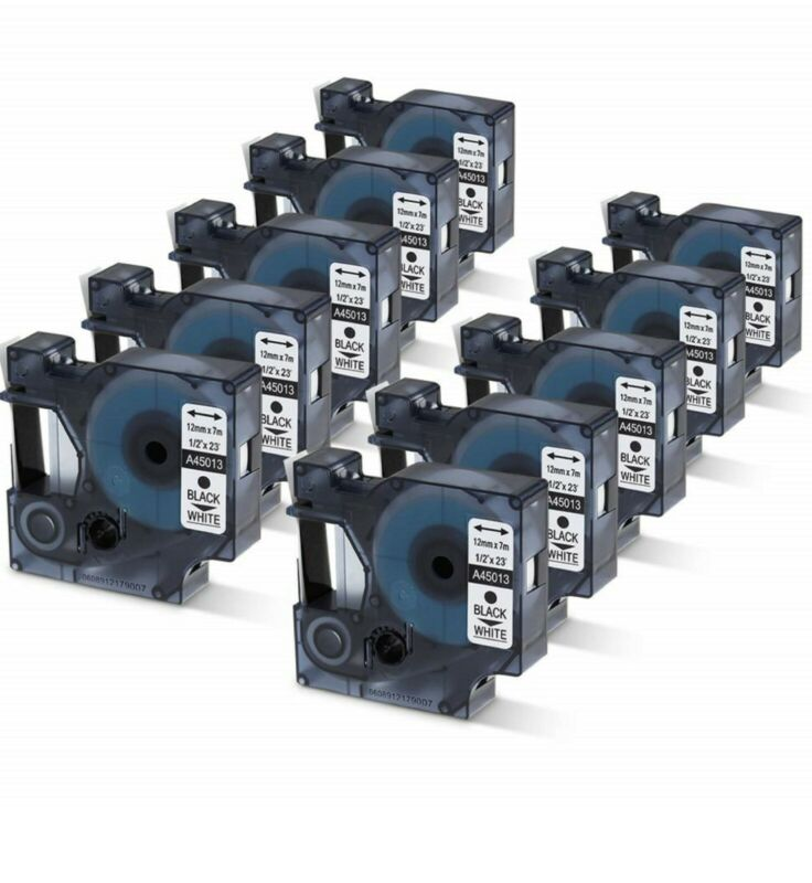 10-Pk/Pack D1 Label Tape 45013 S0720530 for DYMO LabelManager 160 280 420P