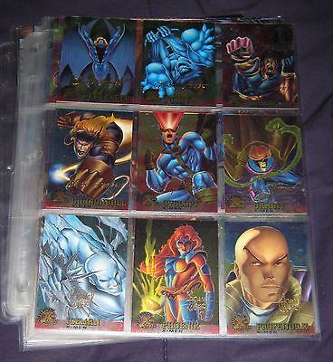 1995 Fleer Ultra X-Men Chromium GOLD SIGNATURE Parallel Set of 99 Cards, Marvel