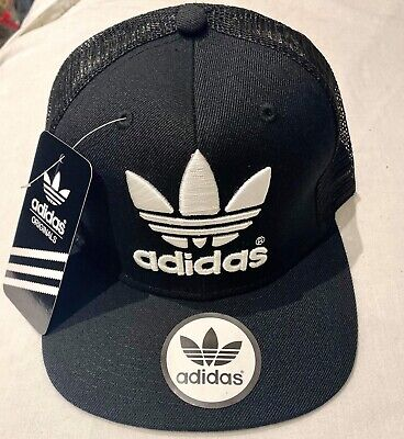 Adult Unisex Snapback Adidas tracker Cap.Black in White . Free Delivery