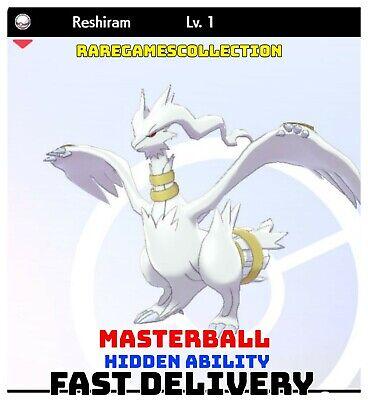 Pokemon Sword Shield ✨ SHINY ✨ 1 LEVEL RESHIRAM LEGENDARY 6IV FAST DELIVERY
