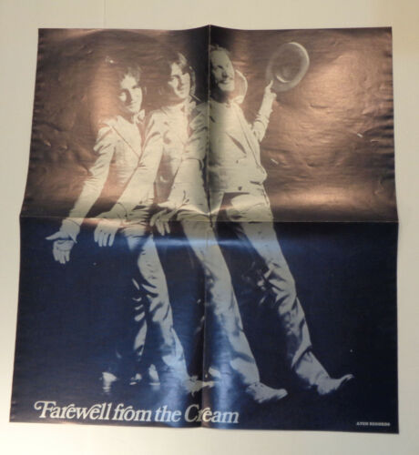"Vintage 1969 Farewell From the Cream ""Goodbye"" LP Poster ONLY!"