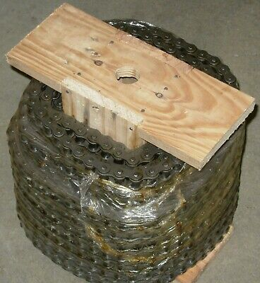 35-1r X 100ft Reel Riveted Roller Chain With 10 Connecting Links Free Shipping