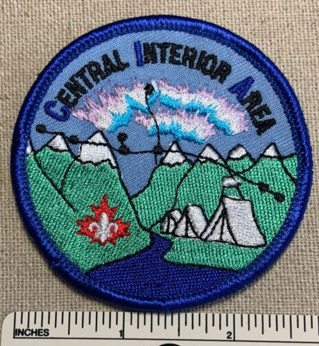 Vintage CENTRAL INTERIOR AREA Boy Scouts Canada Badge PATCH Canadian Scout Camp