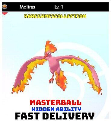 Pokemon Sword Shield ✨ SHINY ✨ 1️⃣ MOLTRES 6IV FAST DELIVERY
