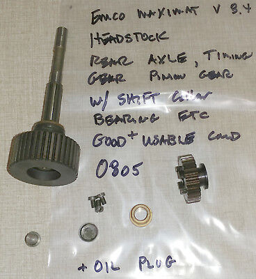 Emco Maximat 8.4 Lathe Headstock Rear Axle Components Timing Gear 0805