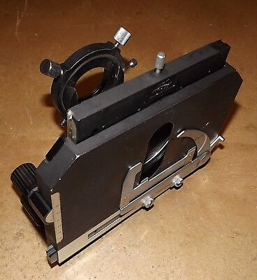 Nikon Microphot Microscope Stage Condenser Sub-stage Assembly