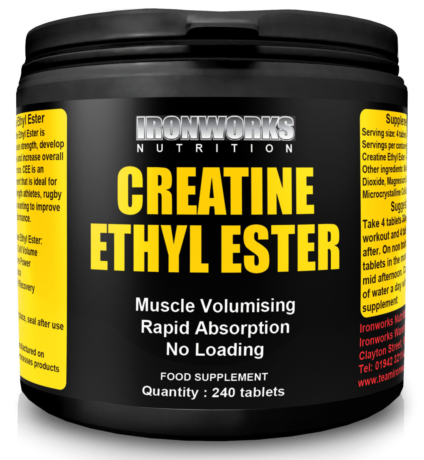 240 CREATINE ETHYL ESTER ANABOLIC GROWTH PILLS TABLETS | eBay
