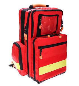 Notfallrucksack MBS Professional Medtex rot mit 5 Modultaschen leer NEU & OVP