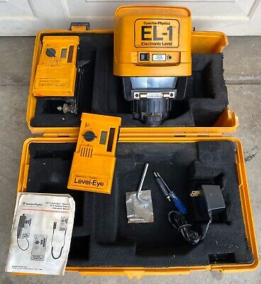 Spectra Physics Electronic Laserplane El-1 Rotary Laser W Remotes Work Tested