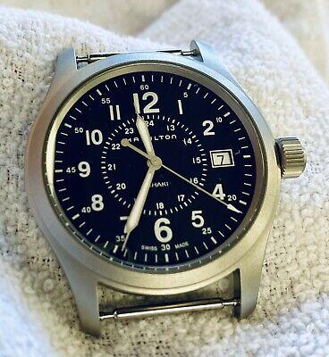 Hamilton Khaki Quartz Field Watch with Blue Dial - H68201943