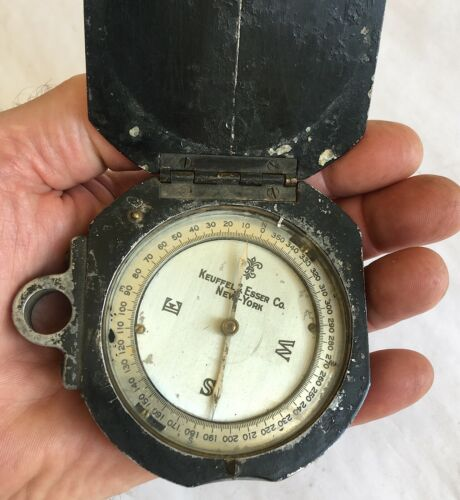 Compass Antique Forestry Surveying Metal Keuffel & Esser