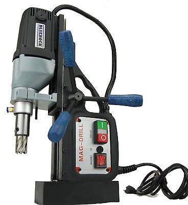 Bluerock Magnetic Drill Model Brm-35b Black W 2 Annular Cutter Set Mag Set