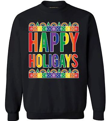 Gay Christmas Sweaters (Happy Holigays Christmas Sweatshirt Happy Holigays Sweater Gay Christmas)