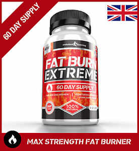FAT BURN EXTREME Weight Loss Diet Pills STRONGEST Legal Fat Burner *60 Capsules*