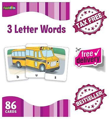 - Flash Kids 3 Letter Words Game Cards Preschool 86 Flash Cards
