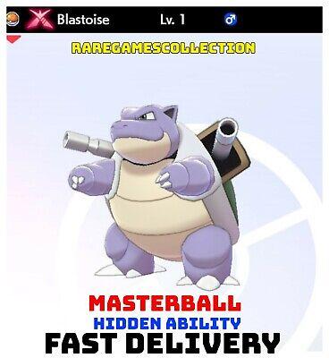 Pokemon Sword Shield ✨ SHINY ✨ 1️⃣ GMAX BLASTOISE 6IV FAST DELIVERY