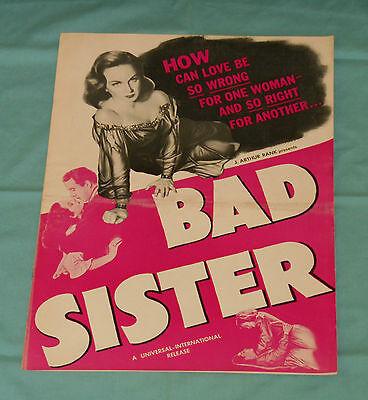 original BAD SISTER pressbook advertising manual Margaret Lockwood Dennis Price