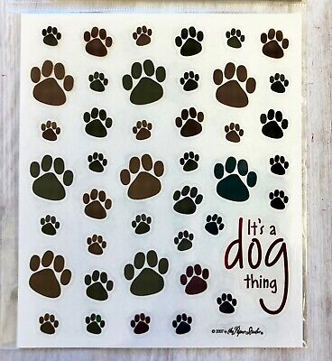 Puppy Paw Print (2 Sheets Dog Puppy Paw Print Animals Stickers Planner Papercraft Envelope Seals)