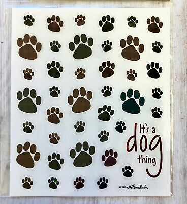 2 Sheets Dog Puppy Paw Print Animals Stickers Planner Papercraft Envelope Seals  - Puppy Paw Print