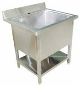 Stainless-Steel-Pot-Wash-Kitchen-Sink-Single-Double-bowl-Commercial ...